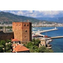TURQUIE - Billet de 250000 Livre turque - La tour rouge d'Antalya - 1998