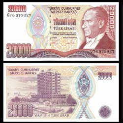 TURQUIE - Billet de 20000 Lire turque - La banque centrale -