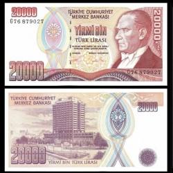 TURQUIE - Billet de 20000 Lire turque - La banque centrale - 1995 P202a