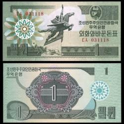 COREE DU NORD - Billet de 1 CHON - 1988