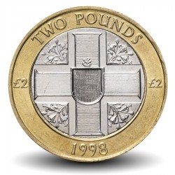 GUERNESEY (île de) - PIECE de 2 Pounds - Bimétal - 1998