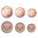 MALTE - SET / LOT de PIECES de 1 2 5 Cents d'Euro - Temples Mnajdra - 2015