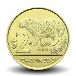 URUGUAY - PIECE de 2 Pesos - Carpincho (Rongeur) - 2012 Km#136