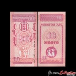 MONGOLIE - Billet de 10 Möngö - 1993