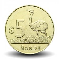 URUGUAY - PIECE de 5 Pesos - Nandu (Autruche Africaine) - 2011 Km#137