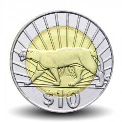 URUGUAY - PIECE de 10 Pesos - Puma - Bimétal - 2011 Km#134