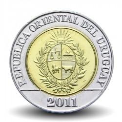 URUGUAY - PIECE de 10 Pesos - Puma - Bimétal - 2011
