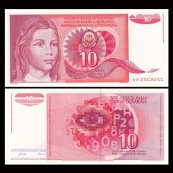 YOUGOSLAVIE - Billet de 10 Dinara - 1990 P103a