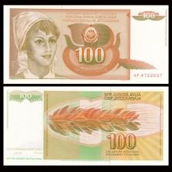 YOUGOSLAVIE - Billet de 100 Dinara - 1990