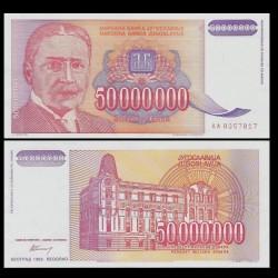 YOUGOSLAVIE - Billet de 50000000 Dinara - Mihailo Pupin - 1993