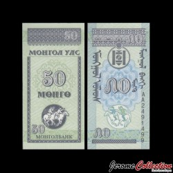 MONGOLIE - Billet de 50 Möngö - 1993
