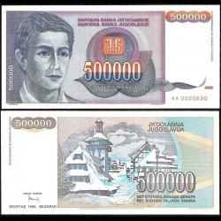 YOUGOSLAVIE - Billet de 500000 Dinara - Station de ski de Kopaonik - 1993
