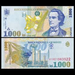 ROUMANIE - Billet de 1000 Lei - Mihai Eminescu - 1998 P106a1