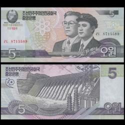 COREE DU NORD - Billet de 5 Won - 100 ans de Kim Il-sung - 2012
