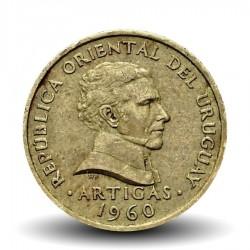 URUGUAY - PIECE de 2 Centésimos - Général José Gervasio Artigas - 1960 Km#37