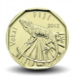 FIDJI - PIECE de 1 DOLLAR - Iguane des Fidji - 2012 Km#336