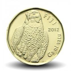 FIDJI - PIECE de 2 DOLLARS - Faucon pèlerin - 2012 Km#337