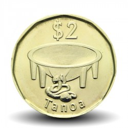 FIDJI - PIECE de 2 DOLLARS - Faucon pèlerin - 2012