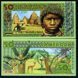 UNION AFRICAINE SUB SAHARIENNE - Billet de 50 SHILLINGS - Cameroun - 2019 uass050