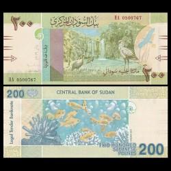 SOUDAN - BILLET de 200 Livres Soudanaise - 2019