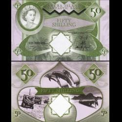 ARUBA - Billet de 50 SHILLINGS - Reine Elisabeth II - 2018