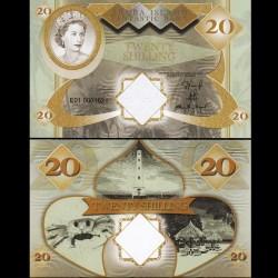 ARUBA - Billet de 20 SHILLINGS - Reine Elisabeth II - 2018