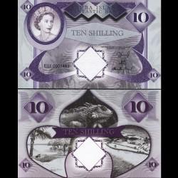 ARUBA - Billet de 10 SHILLINGS - Reine Elisabeth II - 2018