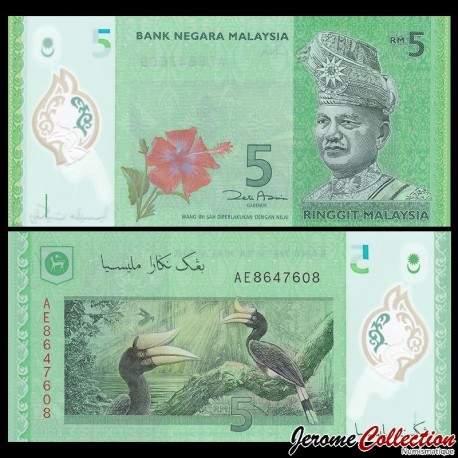 MALAISIE - Billet de 5 Ringgit - Polymer - 2011 P52a