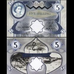 ARUBA - Billet de 5 SHILLINGS - Reine Elisabeth II - 2018