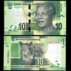 AFRIQUE DU SUD - Billet de 10 Rand - Rhinoceros - 2014