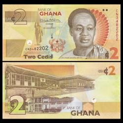 GHANA - Billet de 2 Cedis - 2017