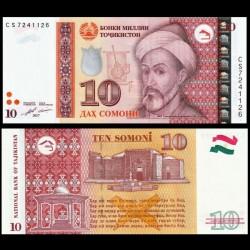 TADJIKISTAN - Billet de 10 Somoni - Mir Sayyid Ali Hamadani - 2017