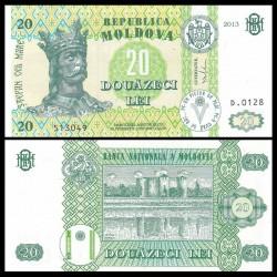 MOLDAVIE - Billet de 20 LeI - Forteresse de Soroca - 2013