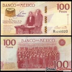 MEXIQUE - Billet de 100 Pesos - Centenaire de la Constitution mexicaine - 2016