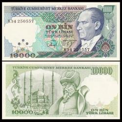 TURQUIE - Billet de 10000 Lire turque - Architecte Mımar Sinan - 1989