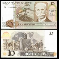 BRESIL - Billet de 10 Cruzados - Rui Barbosa - 1987