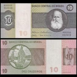 BRESIL - Billet de 10 Cruzeiros - Empereur Pierre II - 1979