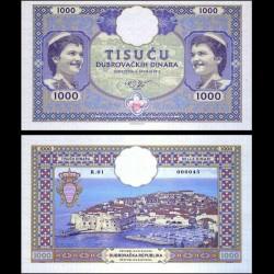 REPUBLIQUE DU RAGUSE / RAGUSA - Billet de 1000 Dinara - 2019 01000 - Gabris