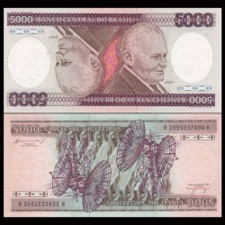 BRESIL - Billet de 5000 Cruzeiros - Humberto Castello Branco - 1981