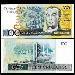 BRESIL - Billet de 100 Cruzados - Juscelino Kubitschek- 1987
