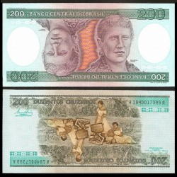 BRESIL - Billet de 200 Cruzeiros - Princesa Isabel - 1981