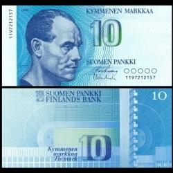FINLANDE - Billet de 10 MARKKAA - Paavo Nurmi - 1986 P113a(12)