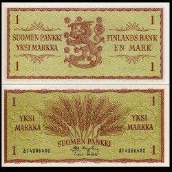FINLANDE - Billet de 1 MARKKAA - Blé - 1963 P98a(23)