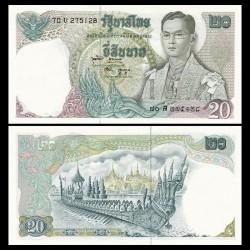 THAILANDE - Billet de 20 Baht - Roi Rama X - 1971
