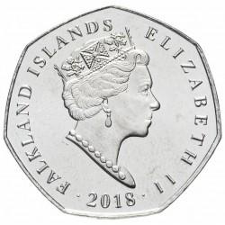ILES MALOUINES / ILES FALKLAND - SET / LOT de 5 PIECES - 50 Pence - Serie Manchots - 2018