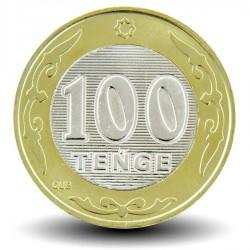 KAZAKHSTAN - PIECE de 100 Tenge (alphabet latin) - Bimétal - 2019 Km#new