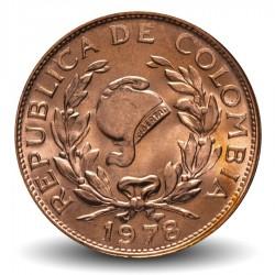 COLOMBIE - PIECE de 5 Centavos - Bonnet de la liberté jacobine - 1978 Km#206a