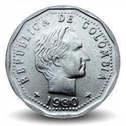 COLOMBIE - PIECE de 50 Centavos - Francisco de Paula Santander - 1980 Km#244