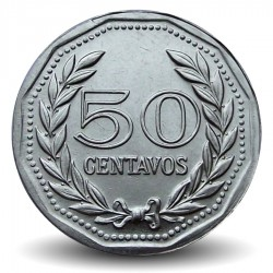COLOMBIE - PIECE de 50 Centavos - Francisco de Paula Santander - 1980
