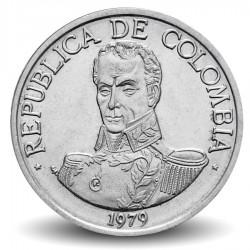 COLOMBIE - PIECE de 1 Peso - Simon Bolivar - 1979